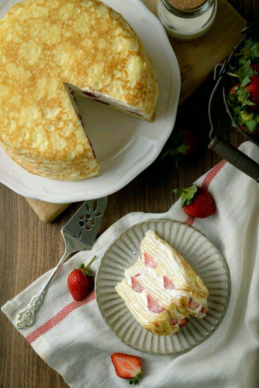 【 草莓千層蛋糕】 ⛄冬季限定❄️ 法式千層首選  6吋 2