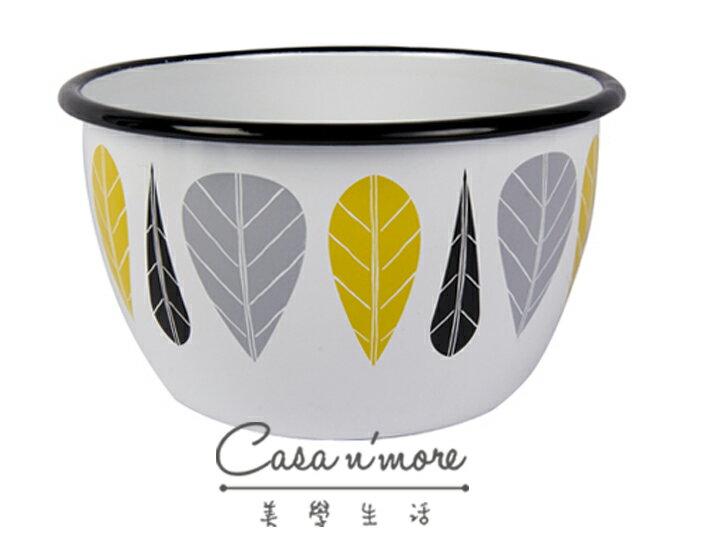 Muurla 黃葉 碗 琺瑯碗 濃湯碗   600cc 0