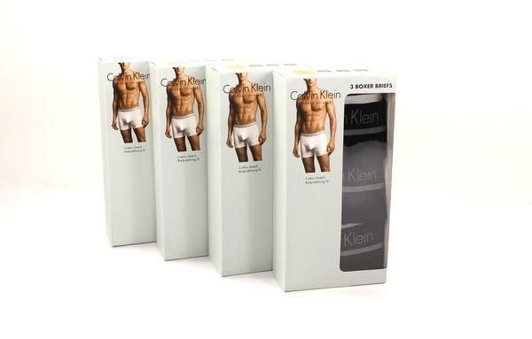 美國百分百【全新真品】Calvin Klein 內褲 CK 男生 四角褲 平口褲 黑色 棉質 S M XL號 A457