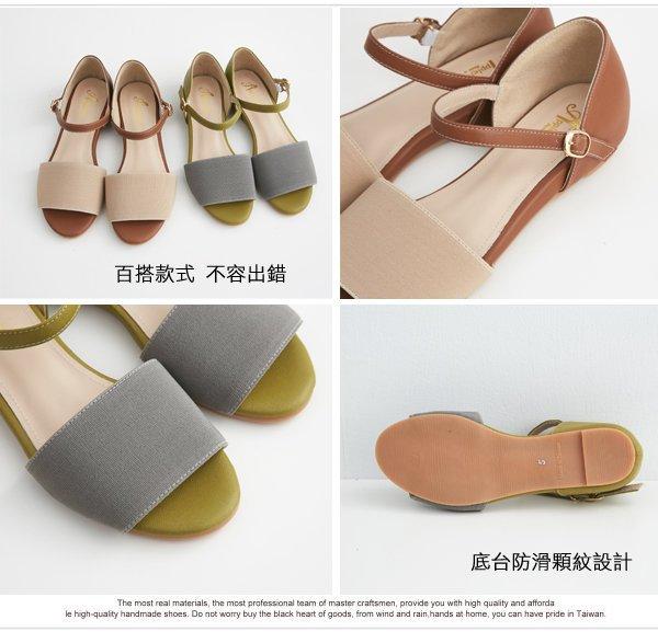 AppleNana蘋果奈奈【QF8051280】韓風絕美撞色後包楔型涼鞋 1