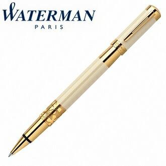 【華特曼WATERMAN】名門系列象牙白金夾鋼珠筆W0891370支