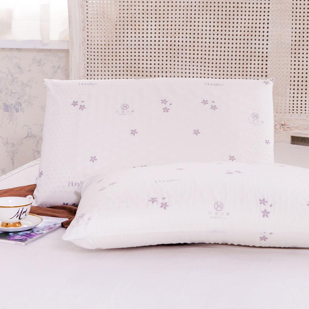 鴻宇 防蟎抗菌加大型乳膠枕1入 SGS檢驗無毒 美國棉授權品牌 台灣製 3