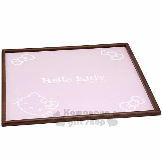 〔小禮堂〕Hello Kitty 麻將消音墊布《粉.大臉.蝴蝶結.65.5X65.5cm》