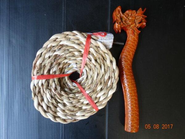 凡塵佛俱百貨:{凡塵佛俱百貨批發}法繩實木正刻龍頭加麻製法繩也可以搭配蛇頭