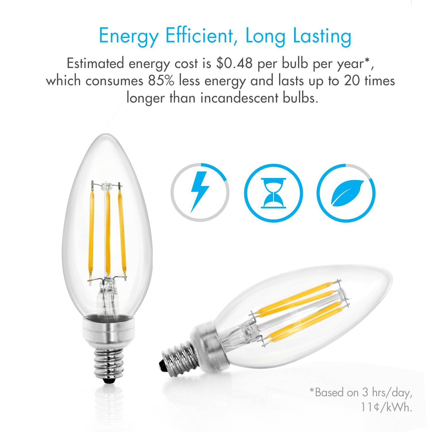 Tenergy rakuten tenergy dimmable led candelabra light bulbs 4w tenergy dimmable led candelabra light bulbs 4w 40 watt equivalent warm white soft arubaitofo Gallery