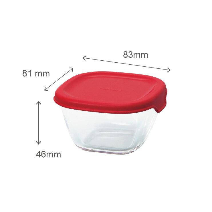 HARIO 方形玻璃保鮮盒4件組/紅色/MKK-2012-R 5