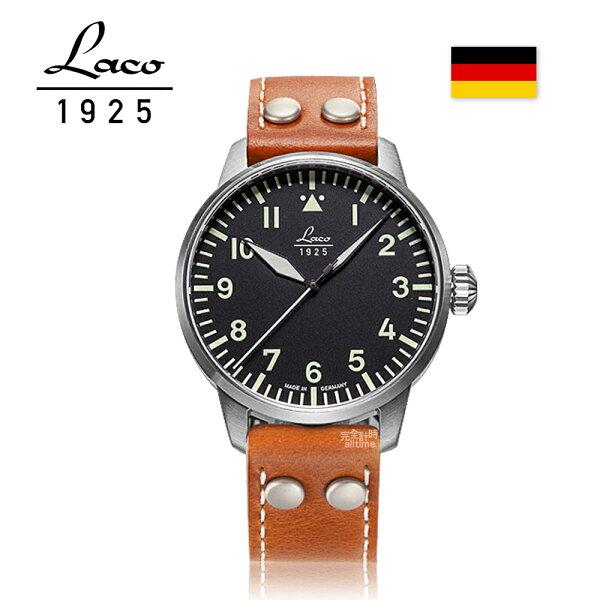 【完全計時】手錶館│Laco朗坤德國工藝飛行員系列男士自動機械錶皮帶42mm(861688)