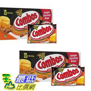 [COSCO代購 如果沒搶到鄭重道歉] Combos 冠寶 椒鹽起司口味捲心餅 51公克 X 18入/組 (2組) W85927