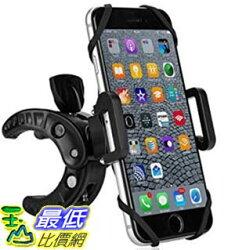 [美國直購] Bike Phone Mount Bicycle Holder Fineed Universal Motorcycle Cradle Clamp for Cycling GPS 自行車支架 Black