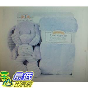 [COSCO代購 如果沒搶到鄭重道歉] Little Miracles 嬰兒隨意毯 附玩偶及安撫玩具 三件組 (有四種動物造型可供選擇) W1011026