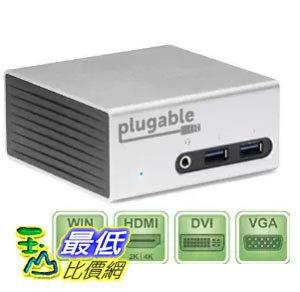 [美國直購] Plugable UD-5900 充電集線模組 USB 3.0 Aluminum Mini Universal Docking Station (HDMI/DVI/VGA/Ethernet/Audio/USB/VESA)
