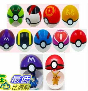 [美國直購] Moonideal 9 Pieces Different Style Ball +9 Pieces Figures Plastic Super Anime Figures Balls for Pokemon Kids 玩具球