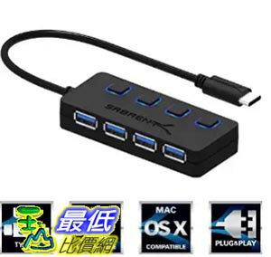 [美國直購] Sabrent HB-UMC4 USB Type C to 4孔 集線器 充電器 USB 3.0 Hub with Individual Power Switches and LEDs
