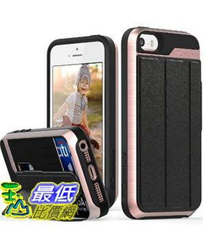 [美國直購] Vena iPhone SE/5S/5 Case 玫瑰金/銀灰兩色 手機殼 保護殼 皮套 [vCommute] Wallet Flip Leather Back