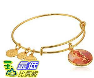 [美國直購] Alex and Ani Art Infusion Seahorse Expandable Yellow Gold Bangle Bracelet 手鐲