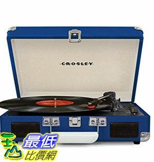 [美國直購] Crosley CR8005D-BL 藍色 手提箱黑膠播放機 可攜式音響 音箱 Cruiser Deluxe Portable 3-Speed Turntable with Blueto..