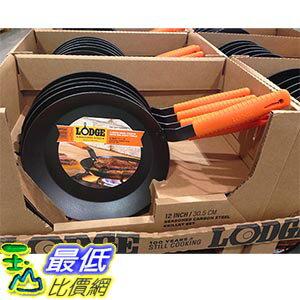 [105限時限量促銷] COSCO LODGE CARBON STEEL SKILLET 美國制單柄高碳鋼平煎鍋 直徑12吋/30.5公分 C1063025