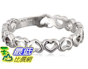 [美國直購] Sterling Silver Small Open Heart Band Ring 戒指