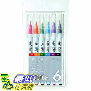 [東京直購] Kuretake RB-6000AT/6VA 日本吳竹 ZIG 彩繪毛筆 (6色) Kuretake Clean Color Real Brush