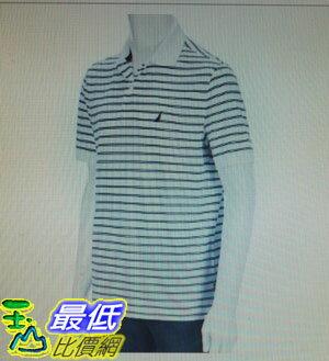 [COSCO代購 如果沒搶到鄭重道歉]  Nautica 男短袖條紋Polo衫 白 _W112334