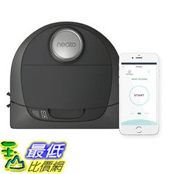 [106美國直購] 吸塵器 Neato Robotics D4 Connected Laser Guided Robot Vacuum Featuring No-Go Lines, Works with Amazon Alexa, Black