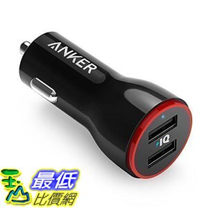 [106美國直購] 車載充電器 Anker 24W Dual USB Car Charger PowerDrive 2 for iPhone iPad Pro Air 2  mini Galaxy Note HTC More