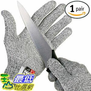 [106美國直購] 手套 NoCry Cut Resistant Gloves with Grip Dots - High Performance Level 5 Protection, Food G..