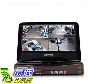 [106玉山最低網] 龍視安 loosafe 8路硬碟錄影機10寸帶屏監控一體機 200萬高清監控