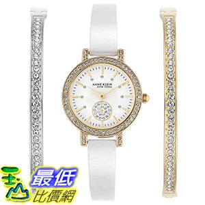 [106美國直購] Anne Klein New York Women's Ceramic Watch and Bracelet Set 女士手錶