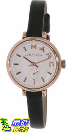 [105美國直購] Marc by Marc Jacobs Women's 女士手錶 Sally MBM1352 Black Leather Quartz Watch