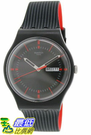 [105美國直購] Swatch Men's 男士手錶 Originals SUOB714 Black Silicone Swiss Quartz Watch