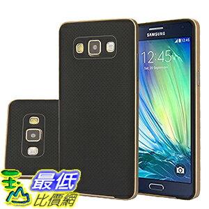 [106美國直購] Galaxy A7 Case,Aomax Armor [Dual Bumper] Slim Fit Skin Silicone Cover Case With PC Bumper Frame For Samsung Galaxy A7(DHF Gold) 手機殼