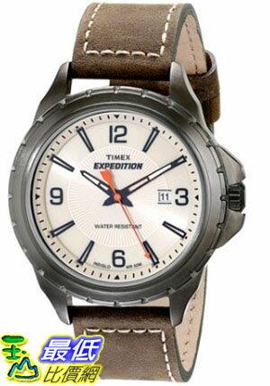 [105美國直購] Timex Mens T49909 Expedition Rugged Field Watch with Leather Band