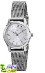 [105美國直購] Timex WoMens 女士手錶 T2P4579J Main Street Modern Minis Silver-Tone Watch