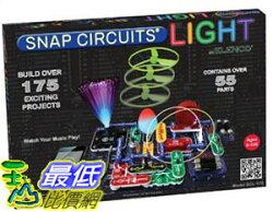 [美國直購] Elenco SCL-175 電子益智品 Snap Circuits Lights Electronics Discovery Kit