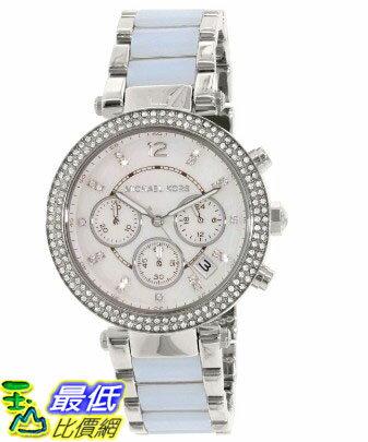 [105美國直購] Michael Kors Women's 女士手錶 Parker MK6138 Blue Stainless-Steel Quartz Watch