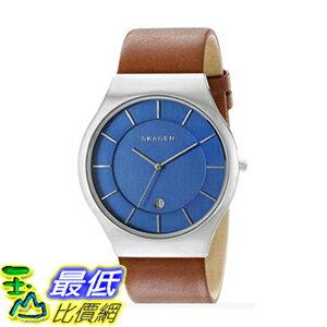 [美國直購] Skagen Men's 男士手錶 SKW6160 Grenen Dark Brown Leather Watch