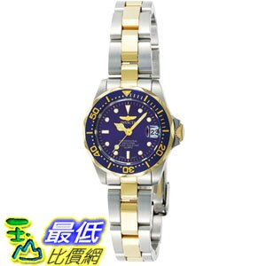 [105美國直購] Invicta Women's 女士手錶 Pro Diver GQ 8942 Blue Steel Two-tone Quartz Watch