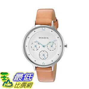 [美國直購] Skagen Women's 女士手錶 SKW2449 Anita Light Brown Leather Watch