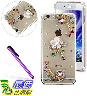 [美國直購] 手機殼 iPhone 5/5S & iPhone SE phone case(White Flower Colorful Diamonds)