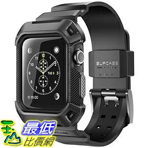 [106美國直購] SUPCASE 黑色 42mm Apple Watch 2 or 3  Case (含錶帶) 手錶保護殼 [Unicorn Beetle Pro]