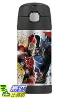 THERMOS 膳魔師保溫杯/保溫瓶/燜燒鍋推薦到[美國直購] Thermos 美國隊長3:英雄內戰 兒童保溫水壺 Funtainer 12 Ounce Bottle Captain America Civil War