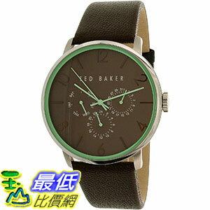 [105美國直購] Ted Baker Men's 男士手錶 10023496 Brown Leather Quartz Watch