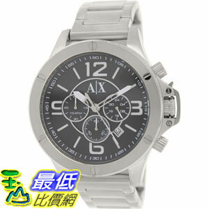 [105美國直購] Armani Exchange Men's 男士手錶 AX1501 Silver Stainless-Steel Quartz Watch