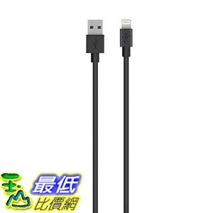 [美國直購] Belkin Apple Certified MIXIT Lightning to USB Cable, 4 Feet (Black)