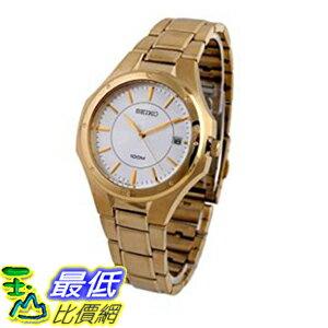 [美國直購] Seiko Men's男士手錶 SGEF64 Stainless Steel Analog with Silver Dial Watch