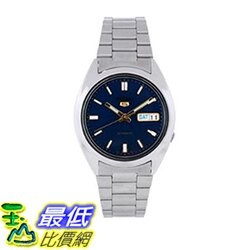 [美國直購] Seiko Men's 男士手錶 SNX799 Stainless-Steel Analog with Blue Dial Watch