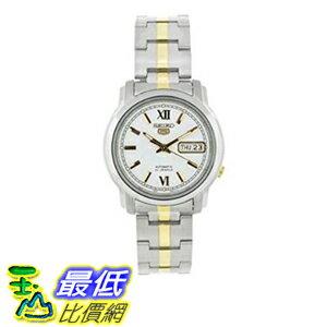 [美國直購] Seiko Men's 男士手錶 SNKK83 Two Tone Stainless Steel Analog with White Dial Watch