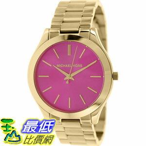 [105美國直購] Michael Kors Women's 女士手錶 Slim Runway MK3264 Gold Stainless-Steel Quartz Watch