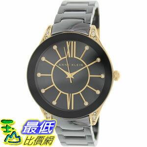 [105美國直購] Anne Klein Women's 女士手錶 AK-1672BKGB Black Ceramic Quartz Watch